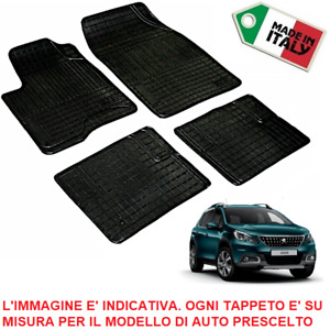 TAPPETI TAPPETINI su Misura PEUGEOT 2008 SET COMPLETO in GOMMA *Made in Italy*
