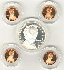 2009 LINCOLN SILVER DOLLAR & COPPER PENNYS FROM COIN & CHRONICALS SET Coins Only