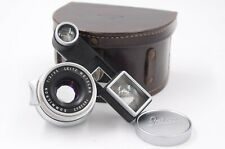 Leitz/Leica 35mm Summicron lens, 8 elements,  for M3, with specs, kidney case