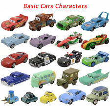 Cars Basic Character McQueen the King Chick Hicks Diecast Toy Car 1:55 Loose New