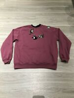 Vintage 90s Funny Furry Cats Long Sleeve Graphic Crewneck Sweatshirt Womens M
