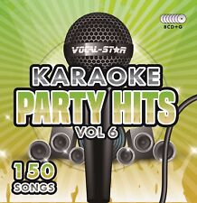 More details for vocal-star party hits 6 karaoke cdg cd+g disc set 150 songs    xdem