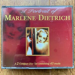 Portrait of Marlene Dietrich CD 2 Disc Compilation Album