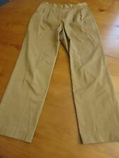 Lands End Women's Pants LIGHT BROWN pleated front Size 8