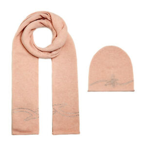 TRUSSARDI JEANS accessories Scarf + hat Pink Strass Wool - 59Y000049Y099997P050