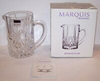 STUNNING SIGNED MARQUIS BY WATERFORD 40010684 CRYSTAL BROOKSIDE PITCHER IN BOX