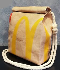 McDonalds Style Handbag - Waterproof Small Bag - Recycled Polyester - Funny Gift