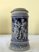 OLD GERZ W. GERMANY LIDDED BEER STEIN HAS FLAWS READ STILL VERY NICE