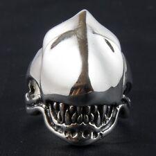 Alien v Predator Cabeza Anillo .925 plata esterlina Biker Metal Gótico Punk