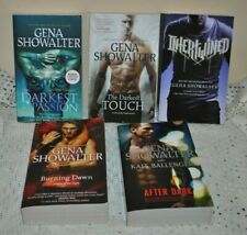 SET/5 Gena Showalter Paranormal ROMANCE PB Burning Down After Dark Intertwined
