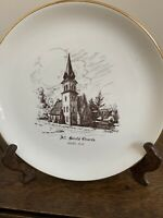 Vintage Collector's Plate Of All SaintsChurch Beebe Quebec