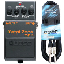 Boss mt-2 Metal Zone distortion pedal + cable de guitarra