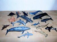 SCHLEICH Sammlung Meerestiere Wale , Haie , Pottwal , Grauwal , Krake , Walross