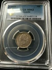 1888 , PCGS Graded Canadian,  10 Cent, **MS-63**