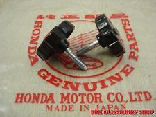 "New listing Honda SuperHawk 305 Cb72 Cb77 Latch Battery Cover "" Hm logo "" , 2pcs. / Japan"