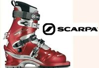 mint! SCARPA T2X telemark ski touring boots & heat moldable liners 27.5 mens 9.5