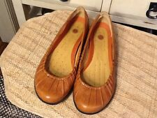 Womens Structured Tan 38809 Clarks Slip On Leather Shoes SIZE 7M