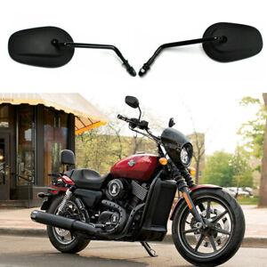 For Harley Davidson Street XG 750 500 Softail Long Stem Motorcycle Mirrors Black