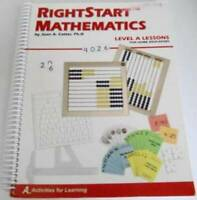 RightStart Mathematics Level A Lessons For Home Educators - Spiral-bound - GOOD