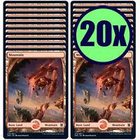 20x Mountain 276 Full Art Basic Land NM/LP MTG Magic Zendikar Rising