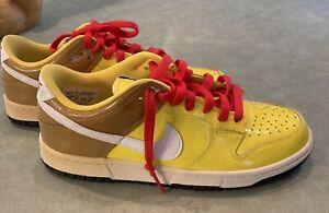 """Nike Dunk Low """"Spongebob Squarepants"""" Vintage 2007 Size 6Y/7.5 WMNS"""