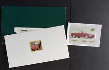 Aston Martin phonecard phone card Lagonda unused as photo in presentation folder