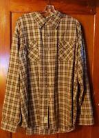 Timberland Mens Shirt XXL 2XL Gray Plaid Long Sleeve Button Up 100% Cotton