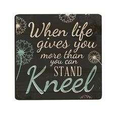 "WHEN LIFE GIVES MORE THAN YOU CAN STAND, KNEEL Lithograph Magnet, 2.75"" x 2.75"""