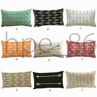 "12*20"" Rectangle Arrow Printed Home Sofa Bed Car Throw Pillow Case Cushion Cover"