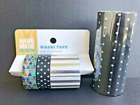 Washi Tape Scotch Expressions & Hand Made Modern 4 Total Rolls Black & Silver