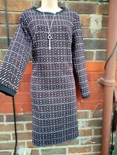 M&S Marks And Spencer Checked tunic Jumper Dress Burgundy size 18  autumn winter