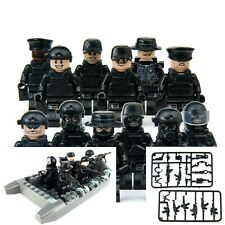 12PCS/Set Military Soldiers, Swat, With Weapons, and Boat Toy Building Blocks