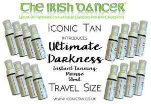 Iconic Tan Ultimate Darkness Instant Wash Off Fake Tan Mousse Travel Size - 50ml