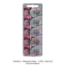 Maxell Hologram SR616SW 321 SR616 Silver Oxide Watch Batteries (35Pcs)