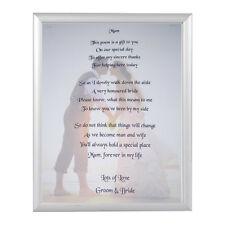 Personalised Mother of the Bride Keepsake  poem  A5