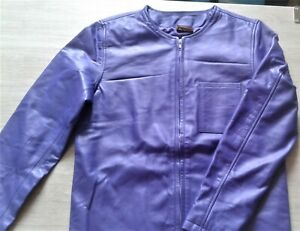 Lederhemd Lila L Hemd Leder Shirt NEU  leather T - shirt purple L Cuir Pelle