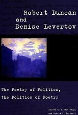Robert Duncan and Denise Levertov : The Poetry of Politics, the Politics of...