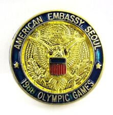 1988 SEOUL OLYMPIC GAMES AMERICAN EMBASSY SEOUL USA OLYMPIC PIN VERY RARE