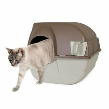 Omega Paw Self Cleaning Cat Kitty Pet Litter Box Regular TAUPE Roll'n Clean NEW