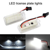 2Pcs LED Xenon White Number License Plate Light Lamp For Ford Fiesta Focus Monde