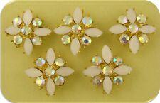 2 Hole Beads X Flowers WEDDING Aurora Borealis Swarovski Crystal Elements QTY 5