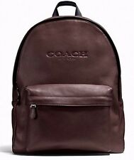 NWT Coach F54786 Charles Mahogany Backpack in Sport Calf Leather MSRP $ 550.00