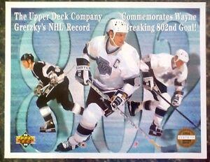 WAYNE GRETZKY 1993-1994 Upper Deck 8.5x11 Commemorative Serial Numbered /25,000