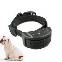 Black Anti No Bark Shock Dog Trainer Stop Barking Pet Training Control Collar