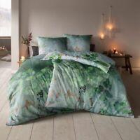 Estella Samt & Seide Flanell Bettwäsche Forest  1 x 80x80 + 135x200 / 155x220 cm