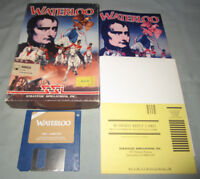 WATERLOO Commodore Amiga Vintage SSI Computer Video Game COMPLETE in Retail Box!
