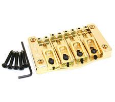 5T400G Hipshot Gold Transtone 4-String Bass Bridge