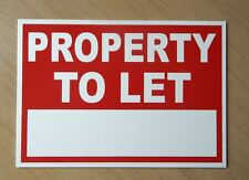 Property to let sign (with space for own words).  3mm plastic sign (BL-173)