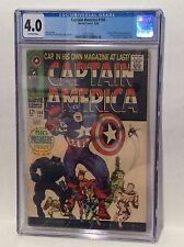 CAPTAIN AMERICA #100 CGC GRADED 4.0 OW PAGES MARVEL COMICS