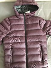 Abercrombie & Fitch Mens Down Jacket Small Burgundy Red New